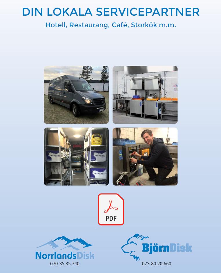 Ladda ner vår broschyr NorrlandsDisk din lokala servicepartner